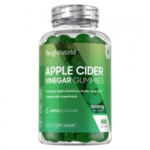 WeightWorld Æblecidereddike 1000mg 60 Vingummier - Naturligt kosttilskud til vægtkontrol - 1 måneds forbrug