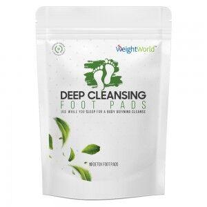 WeightWorld Detox Fodplastre - 10 Plaster - 5 Dages Udrensningsprogram - 100 % Naturlige Ingredienser
