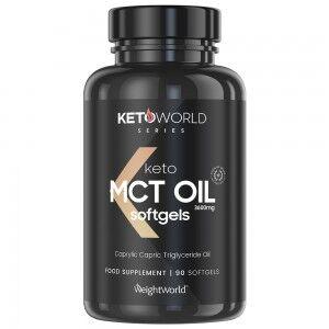WeightWorld MCT Olie Softgels - Optimalt supplement til en ketogen diæt og for vægtstyring - Beriget med C8 & C10 fedtsyrer