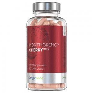 WeightWorld Montmorency Kirsebær Kapsler - 90 Tabletter - 1500 mg - Cherry Capsules - Kirsebær Piller For Bedre Søvnkvalitet - Rig På Vitaminer Og Antioxidanter