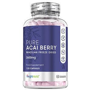 WeightWorld Acai Kapsler med frysetørret acaibær-ekstrakt fra Brasilien - 2 måneders forbrug af 2600mg daglig dosering