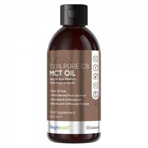 WeightWorld 100% Rent C8 MCT 500ml Olie - Appetitnedsættende olie til vægtkontrol