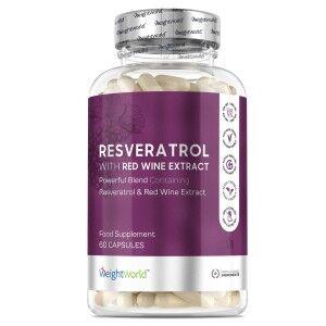 WeightWorld Resveratrol 250mg 60 Kapsler - Resveratrol Kosttilskud - Rødvinsekstrakt Kosttilskud