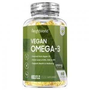 WeightWorld Omega3 1250mg 60 Kapsler - Innovativt vegansk Omega-3 tilskud