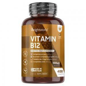 WeightWorld Vitamin B12 1000μg 400 tabletter – Methylcobalamin Styrker kosttilskud til velbefindende og sundhed