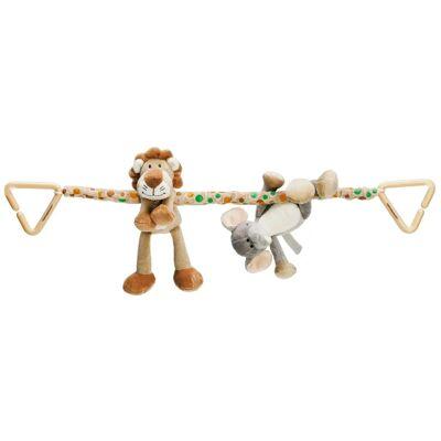 Teddykompaniet Teddykompagniet Diinglisar Wild Barnevognskæde Løve/Elefant - Barnevogne og Klapvogne - Teddykompaniet