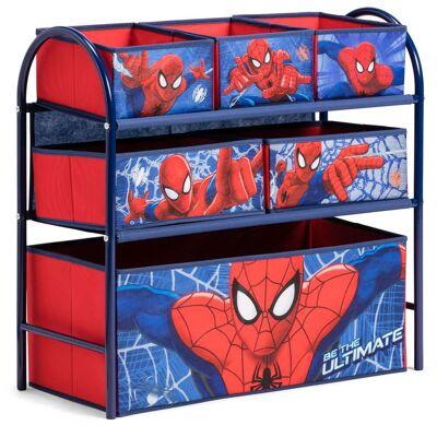 Marvel Spider-Man Spiderman Förvaringshylla 6 Lådor - Babymøbler - Marvel Spider-Man