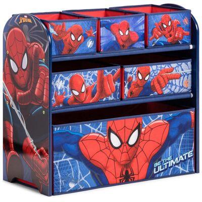 Marvel Spider-Man Spiderman Förvaringshylla 6 Lådor Trä - Babymøbler - Marvel Spider-Man