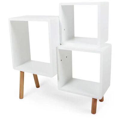Alice & Fox Cube Reol, Hvid/Natur - Babymøbler - Alice & Fox