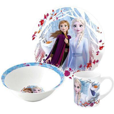 Disney Frozen Spisesæt af Keramik, Blå - Baby Spisetid - Disney