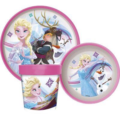 Disney Frozen Spisesæt, Lyserød - Baby Spisetid - Disney