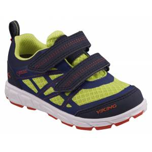 Viking Veme Vel GTX Sneakers, Navy/Lime 28