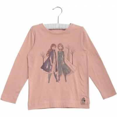 Wheat Frozen Anna & Elsa T-Shirt, Misty Rose, 110 - Børnetøj - Wheat