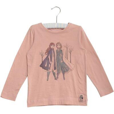 Wheat Frozen Anna & Elsa T-Shirt, Misty Rose, 116 - Børnetøj - Wheat
