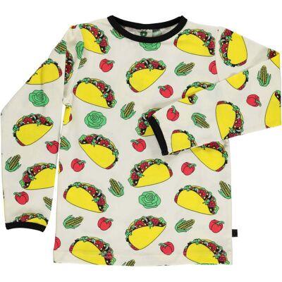 Småfolk Taco Trøje, Cream 4-5år - Børnetøj - Småfolk