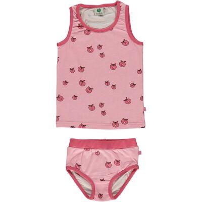 Småfolk Undertrøje & Trusser Æbler, Sea Pink 4-5år - Børnetøj - Småfolk