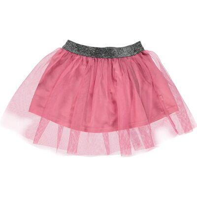 Småfolk Tyldskørt, Sea Pink 1-2 år - Børnetøj - Småfolk