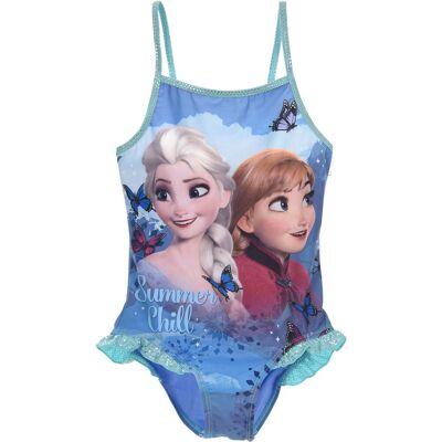 Disney Frozen Badedragt, Blå 8 År - Børnetøj - Disney