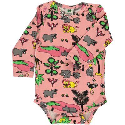 Småfolk Djungle Body, Blush 80 - Børnetøj - Småfolk
