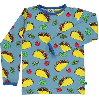 Småfolk Taco Trøje, Sky Blue 1-2år - Børnetøj - Småfolk
