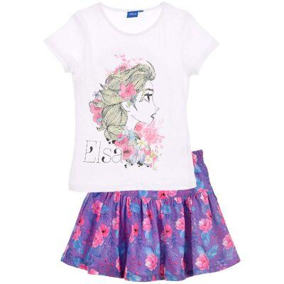 Disney Frozen T-Shirt & Nederdel, Hvid 8 år - Børnetøj - Disney