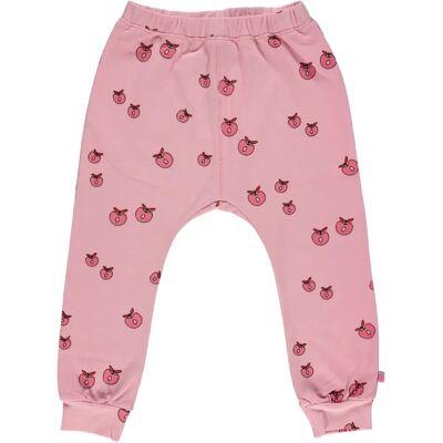 Småfolk Bukser Æble, Sea Pink 1-2år - Børnetøj - Småfolk