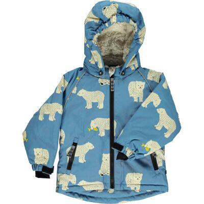 Småfolk Vinterjakke, Winter Blue 1-2 år - Børnetøj - Småfolk