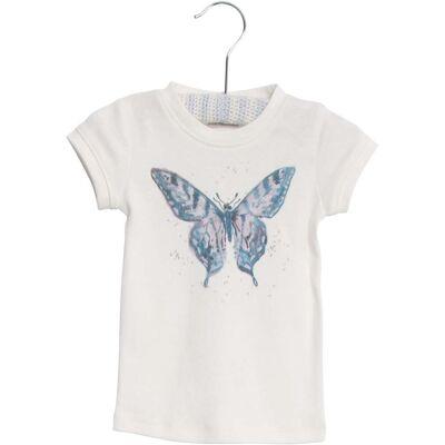 Wheat Watercolour Butterfly T-Shirt, Ivory 80 - Børnetøj - Wheat