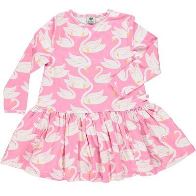 Småfolk Svane Kjole, Sea Pink, 5-6 År - Børnetøj - Småfolk