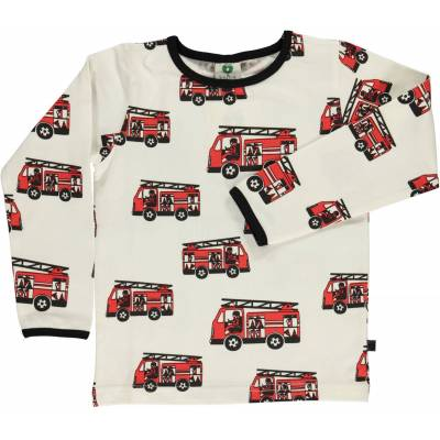Småfolk Brandbil Trøje, Cream 1-2år - Børnetøj - Småfolk