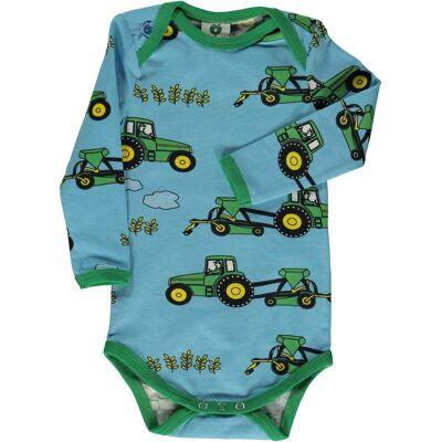 Småfolk Traktor Body, Blue Grotto, 68 - Børnetøj - Småfolk
