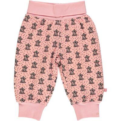 Småfolk Kenzies Carousel Bukser, Silver Pink 74 - Børnetøj - Småfolk