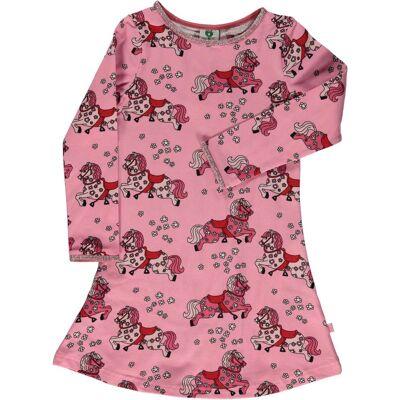 Småfolk Hest Kjole, Sea Pink, 2-3 År - Børnetøj - Småfolk