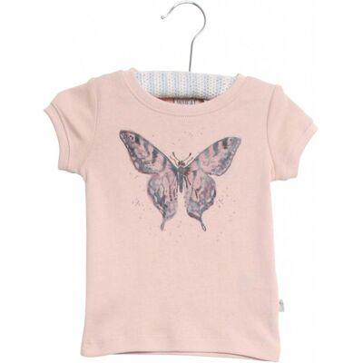 Wheat Watercolour Butterfly T-Shirt, Powder 80 - Børnetøj - Wheat