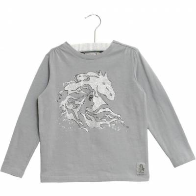 Wheat Frozen Elsa Horse T-Shirt, Dove, 92 - Børnetøj - Wheat