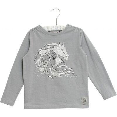 Wheat Frozen Elsa Horse T-Shirt, Dove, 104 - Børnetøj - Wheat