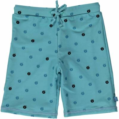 Småfolk Badeshorts Minimultiapple, Air Blue 1-2 år - Børnetøj - Småfolk