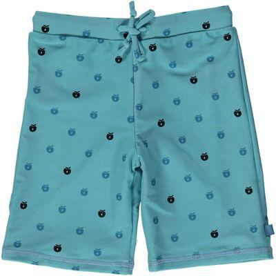 Småfolk Badeshorts Minimultiapple, Air Blue 3-4 år - Børnetøj - Småfolk