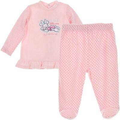 Disney Minnie Mouse Bluse & Bukser, Light Pink  1 mdr. - Børnetøj - Disney
