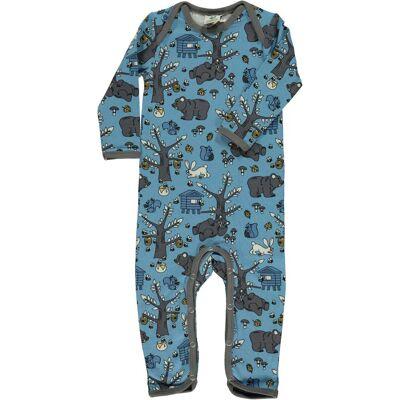 Småfolk Heldragt, Sky Blue 80 - Børnetøj - Småfolk