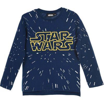 Star Wars Langærmet T-Shirt, Navy 4 - Børnetøj - Star Wars