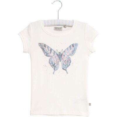 Wheat Watercolour Butterfly T-Shirt, Ivory 104 - Børnetøj - Wheat