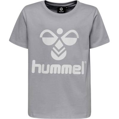 Hummel Tres T-Shirt, Grey Melange 116 - Børnetøj - Hummel