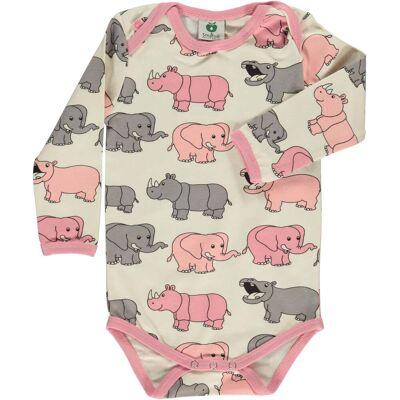 Småfolk Elefant Body, Silver Pink 80 - Børnetøj - Småfolk