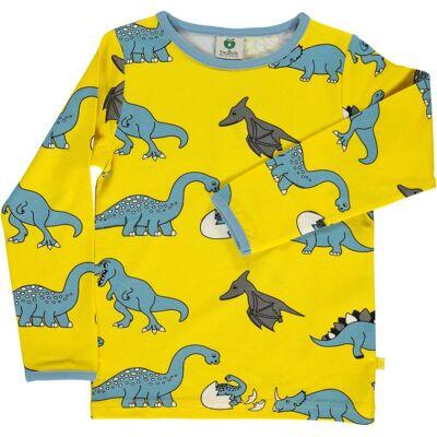 Småfolk Dino Trøje, Yellow 1-2år - Børnetøj - Småfolk