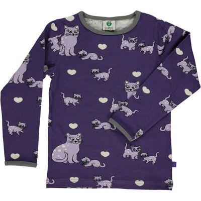 Småfolk Langærmet T-Shirt, Imperial Purple 2-3 år - Børnetøj - Småfolk