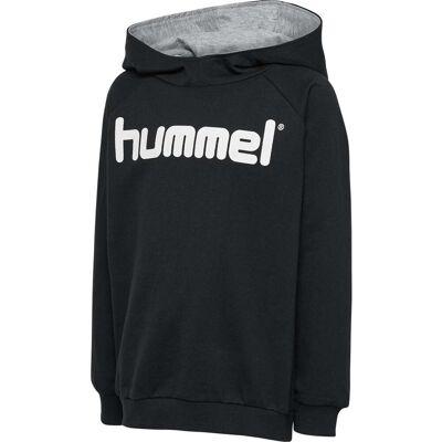 Hummel Go Cotton Logo Hoodie, Sort 140 - Børnetøj - Hummel