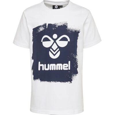 Hummel Mick T-Shirt, White 128 - Børnetøj - Hummel