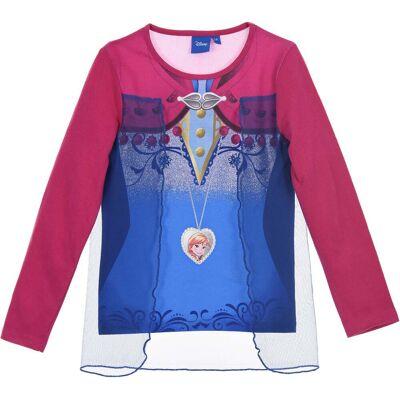 Disney Frozen Langærmet T-Shirt, Dark Pink 8 - Børnetøj - Disney