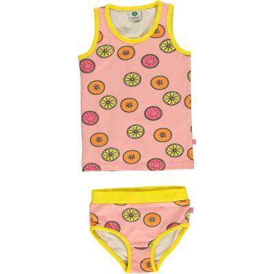 Småfolk Frukt Undertøj, Silver Pink 3-4år - Børnetøj - Småfolk